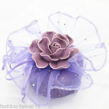 Lots 20-100X Purple Organza Jewelry Bags Christmas Candy Gift Pouches Bags Hot