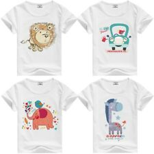 Minions T-Shirt Kids Clothes Shirts Boys Girls Tops Baby lion elephant giraffe 2