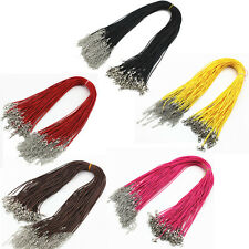 10pcs Necklace Leather Cord Chain Findings String Rope Lobster Clasp Collar