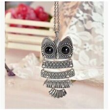 Fashion Bronze ancient ways owl pendant necklace