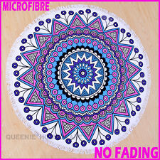 High Qual!NO FADING!Round Beach Towel Yoga Blanket Bedspread floor rug MF12