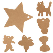 100PCS Kraft Paper Hang Tags Birthday Party Favor Gift Label Brown Cards Hot