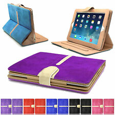 New Stylish Suede Leather Smart Flip Wallet Stand Case Cover For All Apple iPads