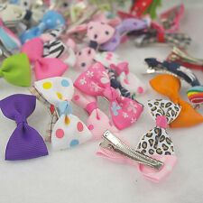 Wholesale 15203050100200PCS Girls Toddler Babys hairclips Bow 85Styles pick