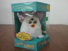 Furby Baby Tiger Electronic 1999 Talking Babies Model 70-040 White Pink Ears