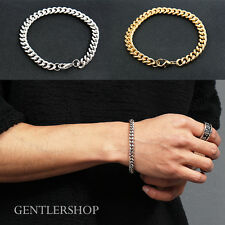 Men's Fashion Gold Silver Plating Chain Bracelet 200, GENTLERSHOP