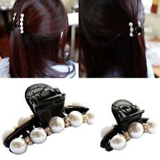 Fashion Girl Women's Cute Butterfly Pearl Hair Clip Claw Comb Accessory