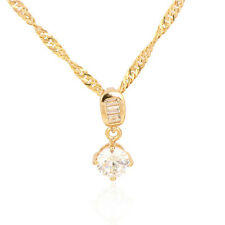 18K Gold Plated Multicolor crystal Round Drops Pendant Fit Chain Necklace