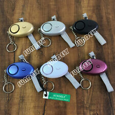 Personal Panic Rape Attack Safety Security Alarm Torch Black Silver Blue Purple