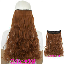 Curly 5 clips on hair piece clip in hair extensions B5 fiber similar as remy