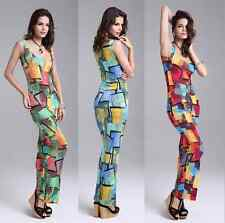 Summer Sexy Women Lady Bodycon Sleeveless Evening Party Cocktail Long Dress New