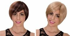 Sweet Lady Women Brown short wig Anime Fluffy straight party hair Bright Wigs