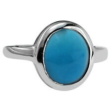 Sleeping Beauty Turquoise 925 Sterling Silver Solitaire 4.85 ctw Ring GSR304