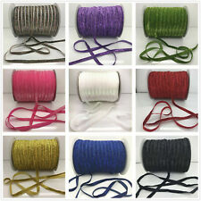 "DIY 5/10/20/50 yds 3/8""10mm Sparkle Glitter Velvet Ribbon Headband Pick 14 Color"