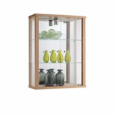 RETAIL DISPLAY LOCKABLE WALL MOUNTED GLASS DISPLAY CABINET VARIOUS COLOURS