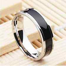Fashion Men Women Black Couple Rings Lover Wedding Band His / Her Promise Ring