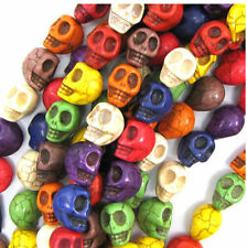 20/30/50/100Pcs Wholesale Turquoise Carved Skull Loose Spacer Beads DIY 9x7MM