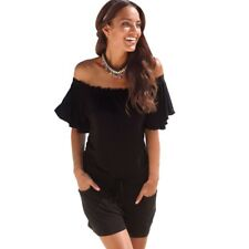 Women Elegant Jumpsuit Rompers Overalls Off Shoulder Playsuit Bodycon Clubwear