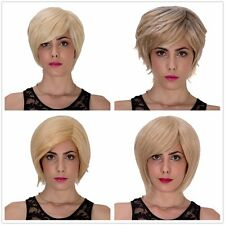 Bright Light wigs Women's Lolita short straight hair fluffy Wig Cosplay Wigs new