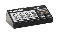 Soundlab 4 Channel Mono Microphone Mixer With Effects G105C