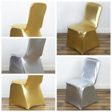 Lame Spandex Elastic Stretchable CHAIR COVERS Wedding Party Decorations