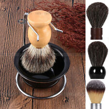 Shave Stand Best Shave Hair Shaving Brush Black Bowl Stainless Steel Holoder CL