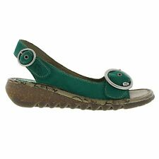 Fly London Tram Cupido Green Womens Sandals