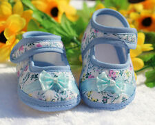 NEW Toddler Crib Shoes Baby Dot Shoes Soft Infant Sole 0-18M PU Leather Flower