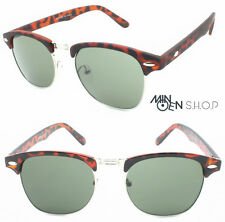 Brown Tortoiseshell Men Women's Sunglasses Retro Vintage 1980's Horn-Rimmed