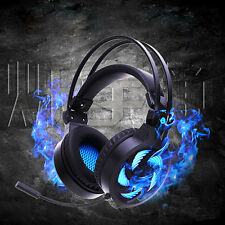 USB 3.5mm Stereo Gaming Headset Headband LED Headphone with Mic for PC Gamer Hot