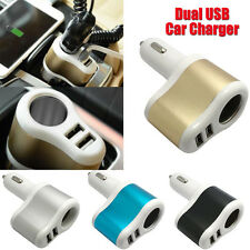 2 Ports Car Charger Lighter Socket Splitter Charger Power Adapter For iPhone PC