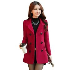 Women Blazers And Jackets Casual Slim Double Breasted Button Coat