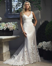 New White/Ivory Mermaid Wedding Dress Bridal Gowns Size 4 6 8 10 12 14 16 18 20+