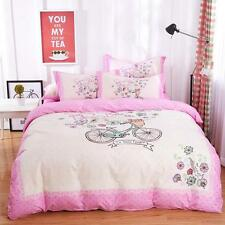 Single Queen King Comforter Cover Bed Set Pillowcase Quilt Duvet Cover Bicycle