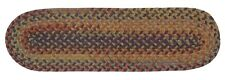 Rustica Oval Braided Wool Stair Tread, RU20 Floral Burst ~ Made in USA