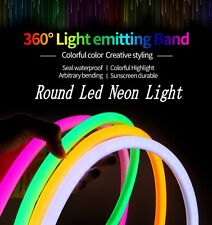 220V 360 Angle Glow flexible Round LED Neon Rope strip Bar Waterproof 2835 1-50m