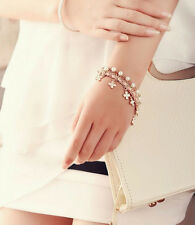 Four Leaf Bracelet Womens Clover 2016 Chain Leather Pearl New Rope Beautiful