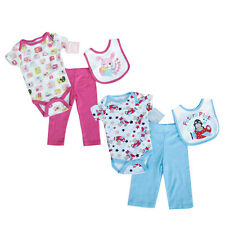 Brand New BOYS/GIRLS 3 piece Bodysuit,Trousers & Bib Set  - £5.99 each!