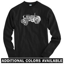 Tractor V2 Long Sleeve T-shirt - LS Men S-4X - Farming Farm Equipment Classic