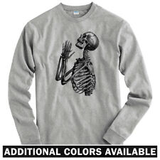 Skeleton Prayer Long Sleeve T-shirt - LS Men S-4X  Holy Praying Skull Death Gift