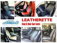 Coverking Leatherette Front & Rear Seat Covers for Ford F-150 Synthethic Leather