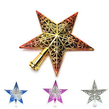 Christmas Tree Star Toppers Ornament Party Decoration Xmas Decoras Star 20cm JP