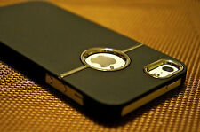 Hard Back Case Cover For iPhone 5 5s SE Deluxe Chrome Rubberized Snap-On