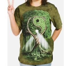 Tree of Life Yin Yang Nature Tie Dye T-Shirt-Whimsical Psychedelic Art Tee,Peace