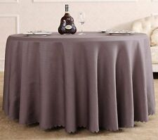New 60''-120'' Round Polyester Tablecloth Table Cover for Banquet Wedding Party