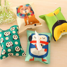 Folding Linen Animal Tissue Box Cover Napkin Holder Candy Decor Paper Towel Case