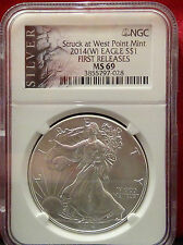 2014-(W) American Silver Eagle - NGC MS69  Silver Label