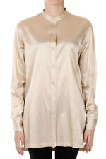 DRIES VAN NOTEN New Woman Beige Gold Cotton blend Shirt Blouse NWT