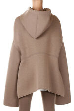 RICK OWENS LILIES MOODY Woman Biege Hooded Jacket Made in Italy
