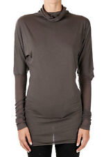 RICK OWENS LILIES New Woman Dark Dust Long sleeve T-shirt Made Italy
